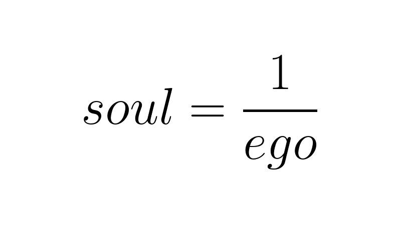 Duša=1/ego
